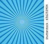 sun rays. blue sun rays... | Shutterstock .eps vector #656253904