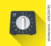 kitchen timer. flat icon.... | Shutterstock .eps vector #656256781