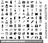 100 ambulance icons set in... | Shutterstock .eps vector #656257879