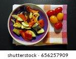 baked vegetables on kitchen... | Shutterstock . vector #656257909