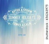 summer time card | Shutterstock .eps vector #656263975