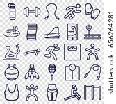 fitness icons set. set of 25... | Shutterstock .eps vector #656264281