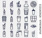 set of 25 soda outline icons... | Shutterstock .eps vector #656265211