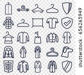coat icons set. set of 25 coat... | Shutterstock .eps vector #656265949