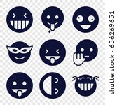 laugh icons set. set of 9 laugh ... | Shutterstock .eps vector #656269651