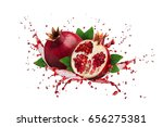 image of ripe pomegranate and... | Shutterstock . vector #656275381