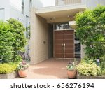 entrance of apartment | Shutterstock . vector #656276194