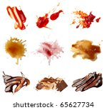 Collection Various Food Stains From - Fine Art prints