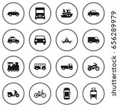 set of 16 shipping icons set... | Shutterstock .eps vector #656289979