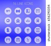set of 16 set outline icons set.... | Shutterstock .eps vector #656290354