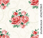seamless floral pattern with... | Shutterstock .eps vector #656292865