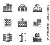 skyscraper icons set. set of 9... | Shutterstock .eps vector #656294899