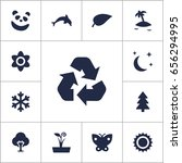set of 13 nature icons set...