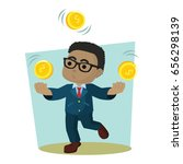 businessman is juggling coin | Shutterstock .eps vector #656298139