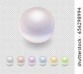 realistic vector pearl icon set ... | Shutterstock .eps vector #656298994