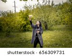 beautiful girl in nature | Shutterstock . vector #656309731