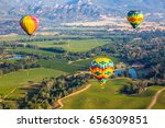 about to fly   hot air balloon... | Shutterstock . vector #656309851