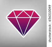 diamond sign illustration.... | Shutterstock .eps vector #656310049