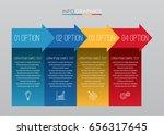 modern info graphic template... | Shutterstock .eps vector #656317645