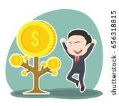 asian businessman happy his... | Shutterstock . vector #656318815