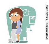 indian businesswoman writing... | Shutterstock . vector #656318857