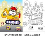 animal worker on heavy tool ... | Shutterstock .eps vector #656322085
