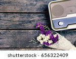 the old retro radio is paired... | Shutterstock . vector #656322409