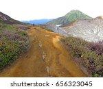 mount bromo volcano  east java  ... | Shutterstock . vector #656323045