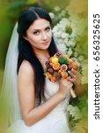 bride attractive girl female... | Shutterstock . vector #656325625