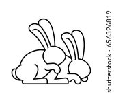 bunny sex. rabbit intercourse.... | Shutterstock .eps vector #656326819