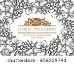 vintage delicate invitation... | Shutterstock . vector #656329741