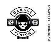garage custom logo design with... | Shutterstock .eps vector #656329801