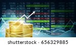 concept of coin and stock... | Shutterstock . vector #656329885
