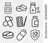 pill icons set. set of 9 pill... | Shutterstock .eps vector #656330689