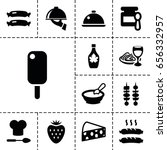 gourmet icon. set of 13 filled... | Shutterstock .eps vector #656332957