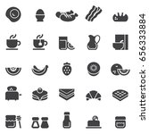 breakfast icons black edition | Shutterstock .eps vector #656333884