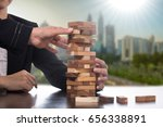 risk business challenge with... | Shutterstock . vector #656338891