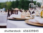 close up of the white plates...   Shutterstock . vector #656339845