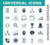 management icons set.... | Shutterstock .eps vector #656341204
