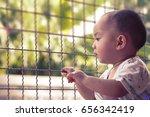 asian baby boy stay inside the... | Shutterstock . vector #656342419