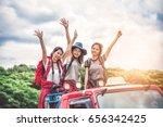 group of women friends... | Shutterstock . vector #656342425