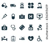 drug icons set. collection of... | Shutterstock .eps vector #656345659