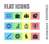 trade icons set. collection of... | Shutterstock .eps vector #656350621