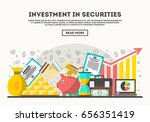 investment in securities vector ... | Shutterstock .eps vector #656351419