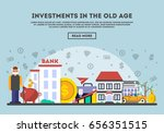 investments in the old age... | Shutterstock .eps vector #656351515