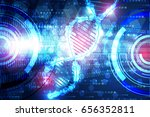 abstract technology science... | Shutterstock .eps vector #656352811