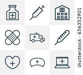 drug outline icons set.... | Shutterstock .eps vector #656352901