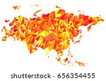 abstract continent of eurasia... | Shutterstock . vector #656354455