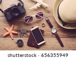 travel accessories costumes.... | Shutterstock . vector #656355949
