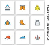 dress colorful outline icons... | Shutterstock .eps vector #656355961